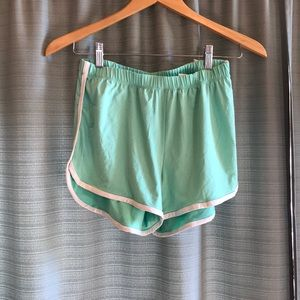 Pants - Mint green athletic shorts